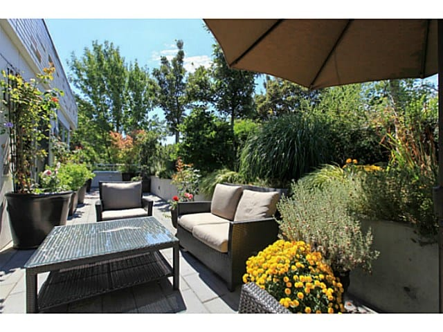 east van condo recently sold patio