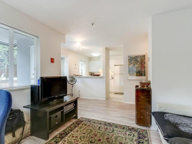 east van condo recently sold living room