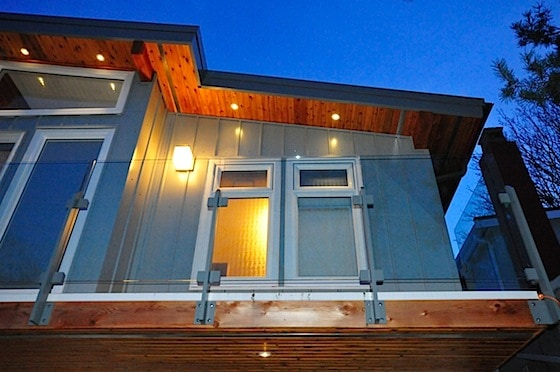 vancouver special renovation exterior lighting and decking