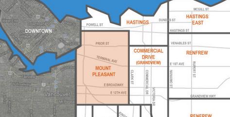mount pleasant neighbourhood in east vancouver