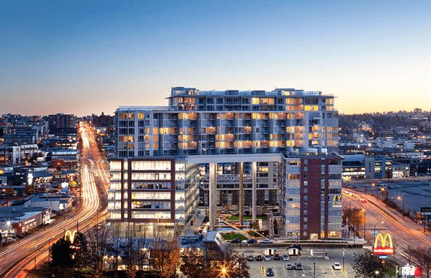 new apartment building in East Van