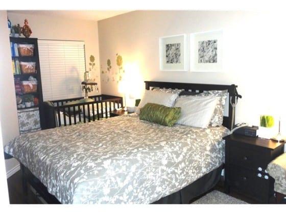 one bed condo bedroom in east van