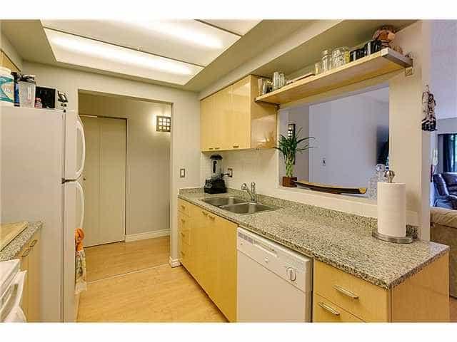 kitchen in one bed condo east van