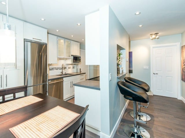 one bed condo kitchen renovation east vancouver