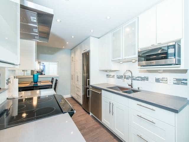 one bed condo renovated kitchen space in east van