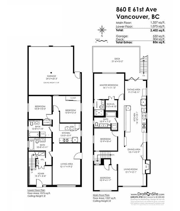 renovated vancouver special in east van floorplan