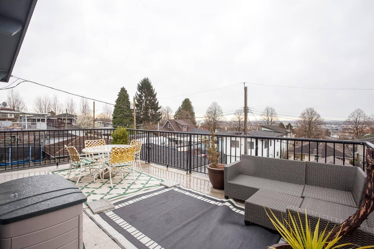 east van renovated vancouver special patio deck